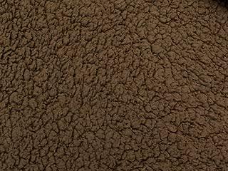 SyFabrics minky sherpa lambs wool fabric 58 inches wide Brown