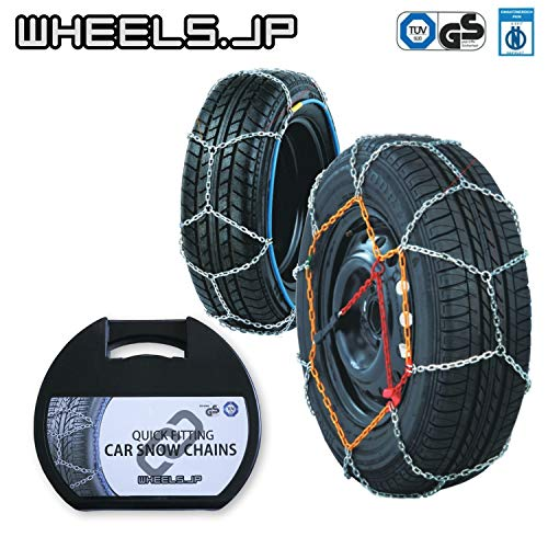 wheels(ホイールズ) タイヤチェーン 亀甲型 ジャッキアップ不要 9mm 185/50R16 (185/50/16 185-50-16 185/50-16) CBC-KNS60-19