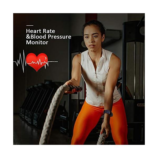 Byttron Fitness Tracker, Reloj Impermeable de Seguimiento de Actividad con Monitor de frecuencia cardíaca, Monitor de… 6
