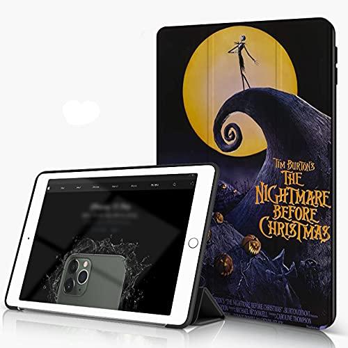 She Charm Carcasa para iPad 10.2 Inch, iPad Air 7.ª Generación,Pesadilla Estilo espantapájaros Antes de Navidad,Incluye Soporte magnético y Funda para Dormir/Despertar