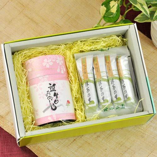煎茶80gと 抹茶のお菓子セット(誕生日プレゼント)