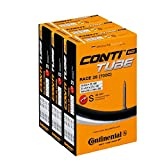 Image of Continental Race 28 700 x 20-25c Road Bike Inner Tubes - 42mm Presta Valve (Pack of 3) - with Ano Adapters,Black / Gold