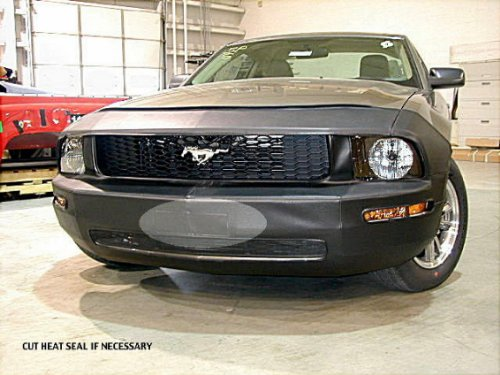 Lebra 2 piece Front End Cover Black - Car Mask Bra - Fits - FORD,MUSTANG,2005 thru 2009