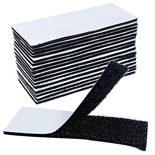 Akuoly 面ファスナーテープ 16枚オスメスセット 強粘着裏糊付 固定用 着脱自在両面テープ 業務用 家庭用 DIY用 4×10cm 16枚