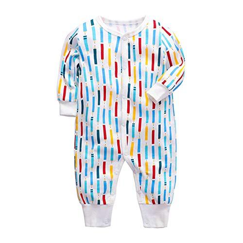 Bébé garçons filles unisexe barboteuses, nouveau-né bébé vêtements en coton dessin animé imprimer combinaisons combinaisons à manches longues vêtements de nuit pour enfants tout-petits (0-2 ans),I,24M