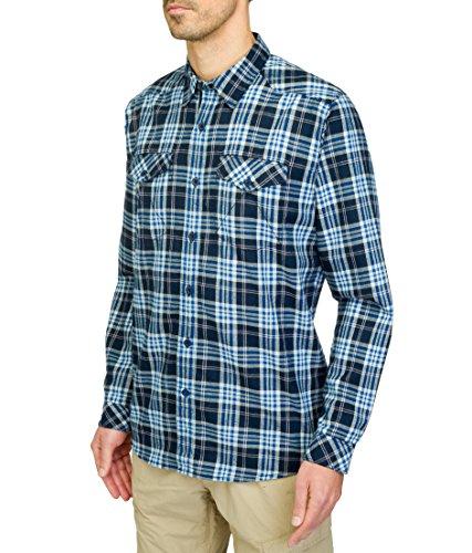 THE NORTH FACE Lodge Chemise à Manches Longues pour Homme Motif Carreaux Bleu Taille S