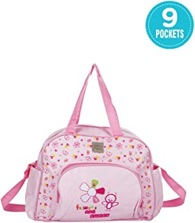Mee Mee Multipurpose Diaper Bag (with Changing Mat, Baby Pink)