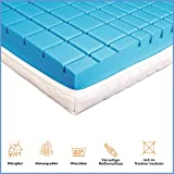 RAVENSBERGER STRUKTURA-MED® 60 | 7-Zonen-HR-Premium-Kaltschaummatratze | H3 RG 60 (80-120 kg) | Made IN Germany - 10 Jahre Garantie | Baumwoll-Doppeltuch-Bezug | 90 x 200 cm - 2