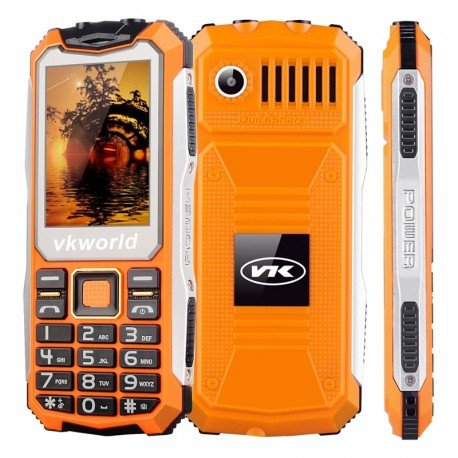 VKWorld Stone V3S Rugged Phone - IP65, display da 2,4 pollici, Daul SIM, Quad Band GSM, 2200mAh batteria, torcia elettrica (ara