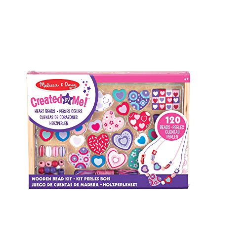 Melissa & Doug Sweet Hearts Bead Set | Arts & Crafts | DIY | 4+ | Gift for Boy or Girl