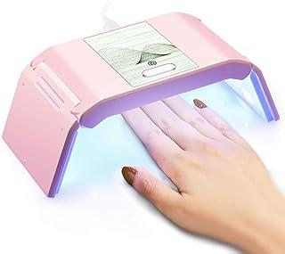 LKE 36W UVライト レジン用 ジェルネイル ledライト 硬化 タイマー機能 USB 折りたたみ 軽量 コンパクト (Pink1)