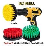 oxoxo Drill Brush–4Inch Medium stiffness Power Scrubbing Brush Drill Attachment for Cleaning...