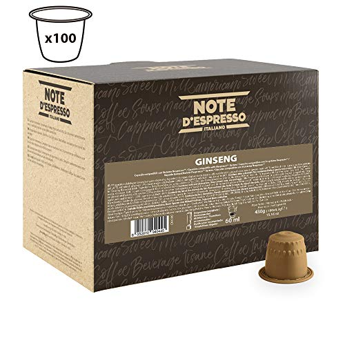 Note D\'espresso Ginseng, Capsule per caffè al ginseng istantaneo,4,3 g x 100