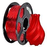 YOYI YOYI TPU Filament 1.75mm, 3D Printer Filament Flexible TPU Roll, 1 kg Spool (2.2 lbs.), Dimensional Accuracy +/- 0.03 mm, 85A Soft TPU 3D Printing Filament(Red)