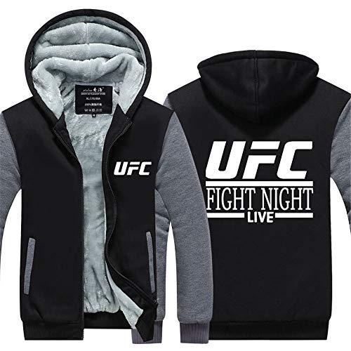 LAIDAN Unisex Sport Hoodie Casual-Jacke - UFC Kampfnacht 3D Gedruckt Mode Kapuze Pullover, Herren Beiläufige Baseball-Uniform Warm Sweatshirt - Teen-Mantel-Geschenk,D,L