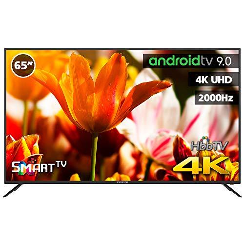 TV LED INFINITON 65' INTV-65MU2100 4K UHD 2000HZ - Smart TV - Android 9.0 - Reproductor y Grabador USB - HDMI - HbbTV - (Incluye Mando Air Mouse)