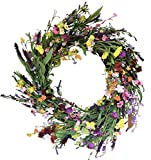 The Wreath Depot Canterbury Spring and Summer Door Wreath 24 Inches, Beautiful Front Door Wreath, White Storage Gift Box Included