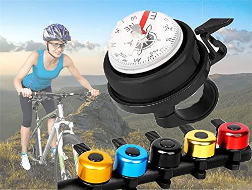 AOTEMAN Bike Bells Loud Sound Bicycle Rings Classic Aluminum Bike Bell for Road Bike Mountain Bike City Bike Sports Bike Cruiser Bike (A-Silver)