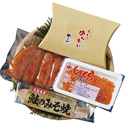 北海道いくら・鮭とやまや明太子詰合せ 【贅沢 かずのこ お正月 詰め合わせ つめあわせ 魚卵 美味しい おいしい うまい お取り寄せグルメ お取寄せグルメ 3500】