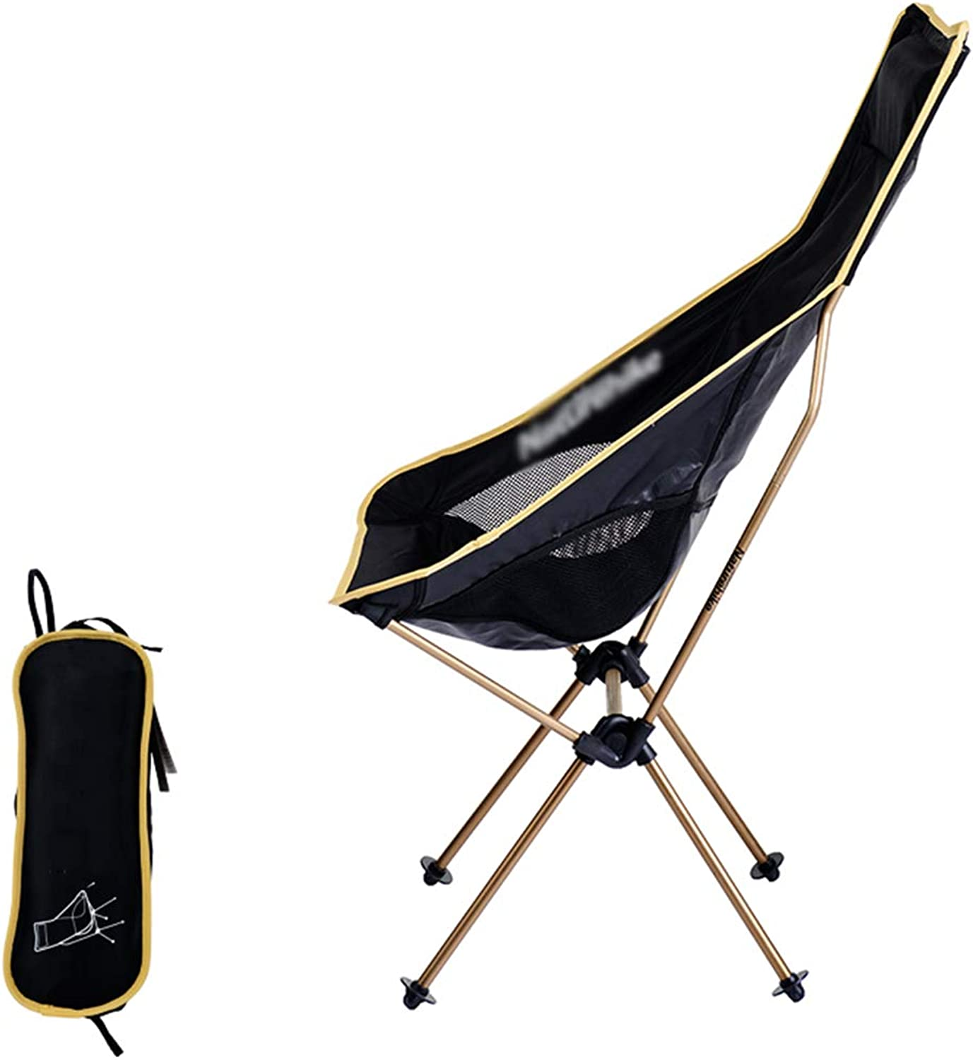 ZENGAI Camping Chair Lightweight Folding Chair with Carry Bag for Hiking Fishing Beach (color   Yellow)