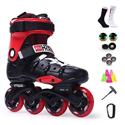 Adult Inline Skates, Fancy-flache Schuhe for Männer und Frauen, Anfänger, 36-44 Yards (Farbe: Rot, Größe: EU 44 / US 11 / UK 10 / JP 27cm) dongdong ( Color : Red , Size : EU 44/US 11/UK 10/JP 27cm )