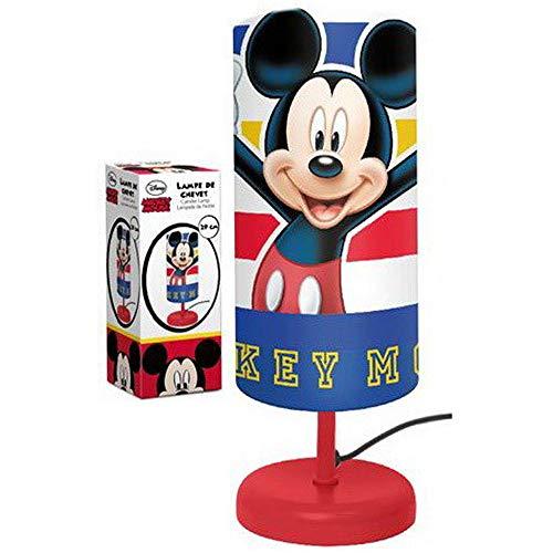 Lampe de Chevet Cylindre MICKEY MOUSE Enfant Chambre en Rouge ! LQ2024