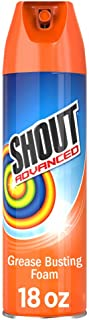 Shout Advanced Foaming Grease and Oil Stain Remover for Clothes, 18 oz