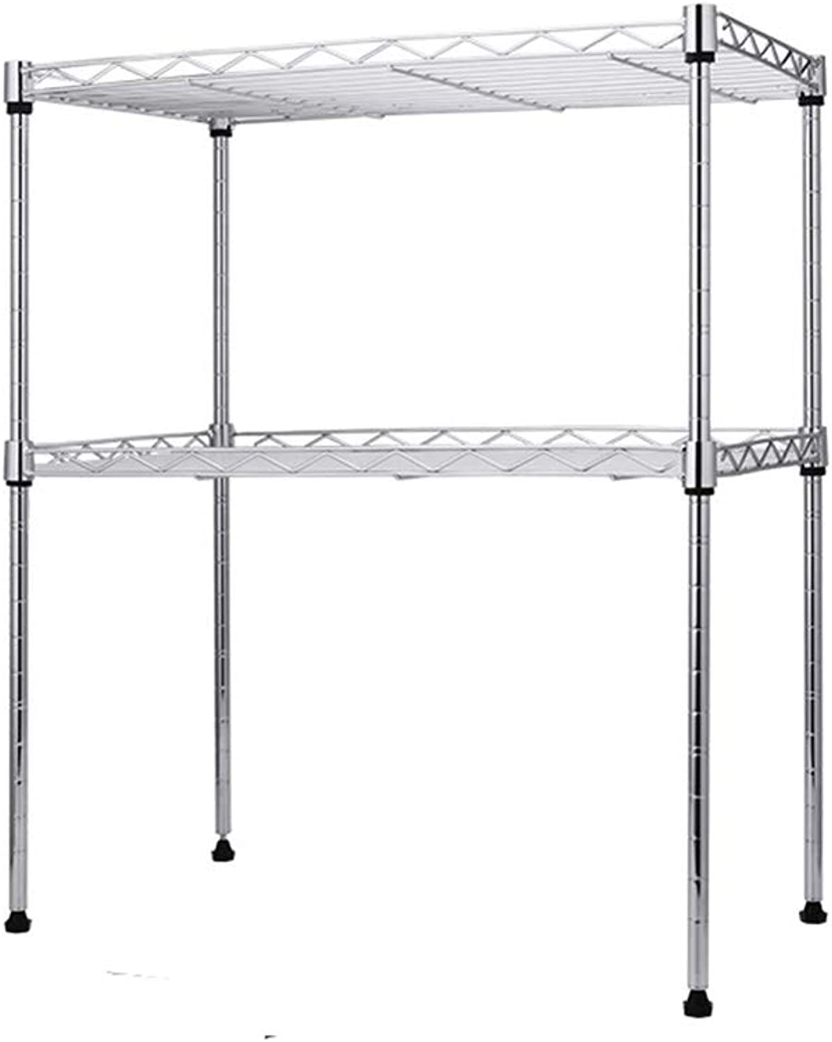 Microwave Oven Rack,Double Microwave Oven Stand Shelf Side Organizer Storage Unit Rack (Stainless Steel)