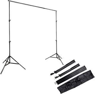 Kshioe 2x3m/6.5x9.8ft Photo Video Studio Adjustable Background Backdrop Support System Stand with Carry Bag