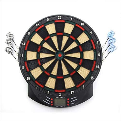 RUNNG 15 Zoll Elektronische Dartscheibe Set mit 6pc Soft-Dart-LCD-Display Automatische Score Dart Platte Zähltafel Dartboard Sicherheit Hanging