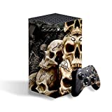 IT'S A SKIN Skins Compatible with Xbox Series X Console and Controller Vinyl Wrap - Protective Overlay Decal stickers skin cover - Wicked Skulls Tattooed