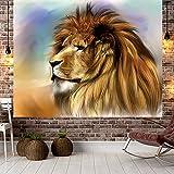 YDyun Tapiz para Colgar en la Pared del hogar para Sala de Estar Dormitorio hogar decoración, Paño para Colgar Paño Decorativo Estampado león