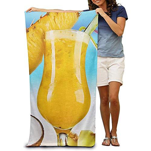 La.R Strandhanddoek van 100% katoen, sneldrogend voor zwembaden met frutta-sap 80 x 130 cm