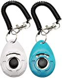 ▼Come in 2 pack button clickers with wrist strap in 2 different colors: Lake Blue, White ▼Can be used to train the dog basic obedience, small trick, and correct the bad behavior; Scientific method of training your pet safely and easily. ▼Stop barking...