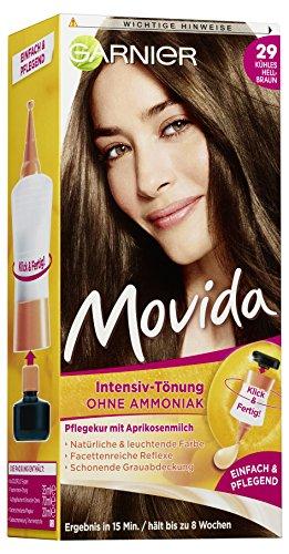 Garnier Tönung Movida/Intensiv-Tönung Haarfarbe 29 Kühles, ohne Ammoniak, 3er Pack Haarcoloration-Set