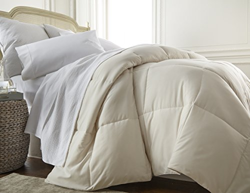 ienjoy Home Collection Down Alternative Premium Ultra Soft Plush Comforter, King, Ivory