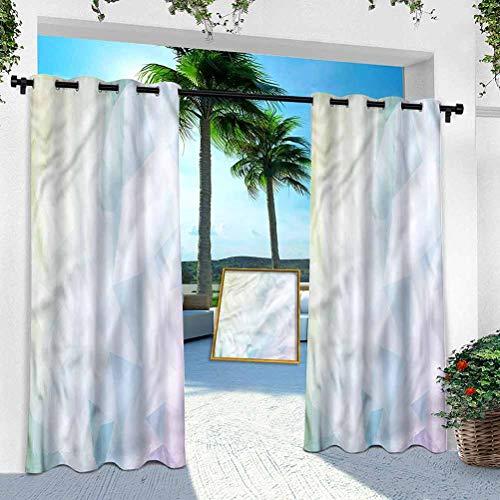 Cortina para patio al aire libre, abstracto, colorido mosaico azul tono, 108 pulgadas de largo resistente panel interior para porche, balcón, pérgola, toldo de tienda de campaña (1 panel)