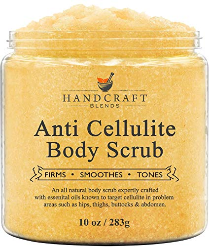 Handcraft Cellulite Treatment Body Scrub - 100% Natural - Powerful Anti Cellulite Treatment, Penetrates Skin, Targets Unwanted Fat and Improves Skin Firmness – 10 oz