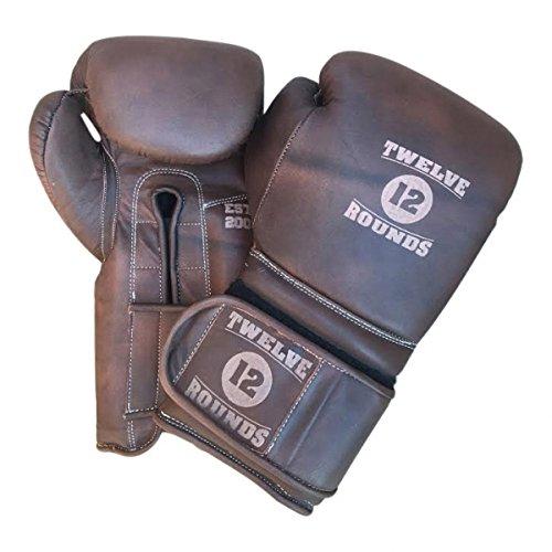 Piel Authentic Guantes de boxeo vintage de Twelve Rounds