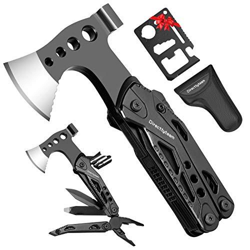 Multitool Geschenke für Mann, 15 in 1 Multifunktionswerkzeug Survival Kit mit Edelstahl Tragbar Hammer, Zange, Klappmesser, Faltbares Multitoolaus Taschenwerkzeug für Outdoor Camping, Wandern,Notfall