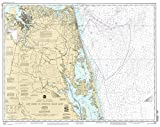 Historic Pictoric Vintage Map - Cape Henry to Currituck Beach Light, 1992 Nautical NOAA Chart - Virginia, North Carolina (VA, NC) - Vintage Wall Art - 24in x 18in