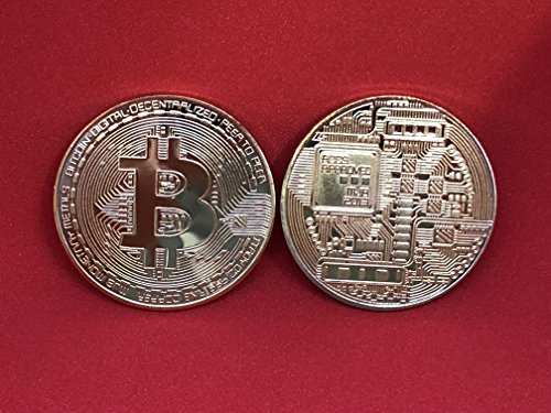 Physische Bitcoin Münze, echt vergoldet, Medaille, Sammelmünze, Bit-Coin Mining.