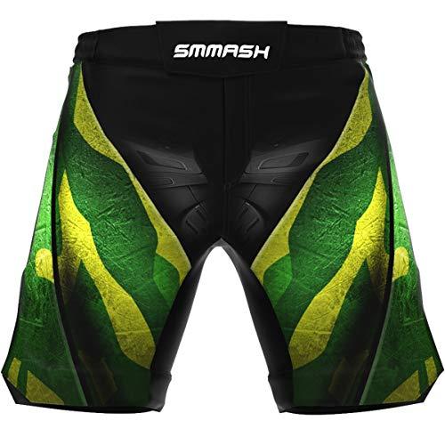 SMMASH Choke'N'Roll Deporte Profesionalmente Ultraligero Pantalones Cortos MMA para Hombre, Shorts MMA, BJJ, Grappling, Krav Maga, Material Transpirable y Antibacteriano, (XXL)
