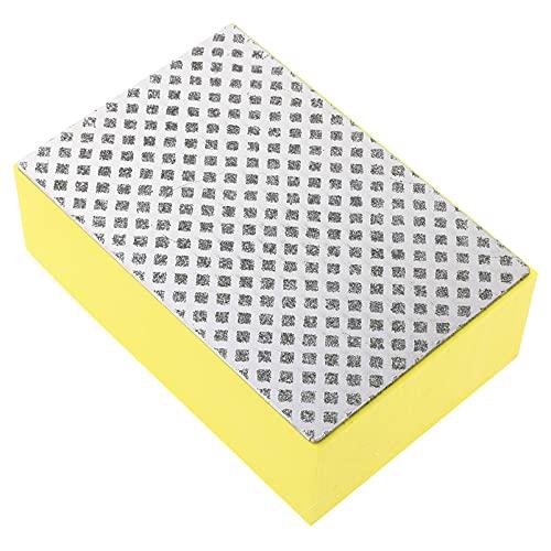 DOITOOL 2pcs Sanding Sponge Sander Sponges Blocks Assortment Yellow Sandpaper Sponge Brush Block Household Cleaning Tool for Metal Glass Mirror Diamond