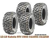 4 WANDA ATV tires 25x10-12 P350 fit 13-19 Kubota RTV X900 X1100C X1120D