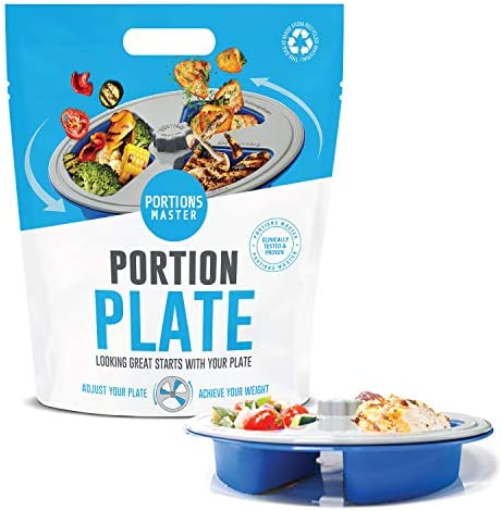 Portions Master All in One Plate Diet Weight Loss Aid Food Management Servings Control All in product image