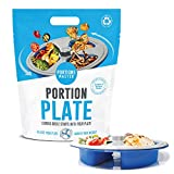 Portions Master All in One Plate | Diet Weight Loss Aid | Food Management & Servings Contr...