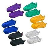 whatUneed 6 pares de calcetines casuales de tobillo de corte bajo para hombre mujer, respirables divertidos dibujos animados cortos calcetines de equipo para deportes al aire libre