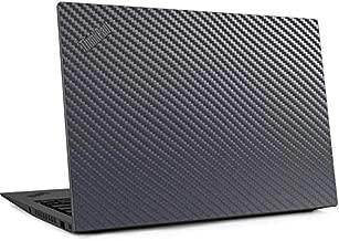 Skinit Decal Laptop Skin for Thinkpad X1 Carbon (6th Gen 2018) - Originally Designed Silver Carbon Fiber Design