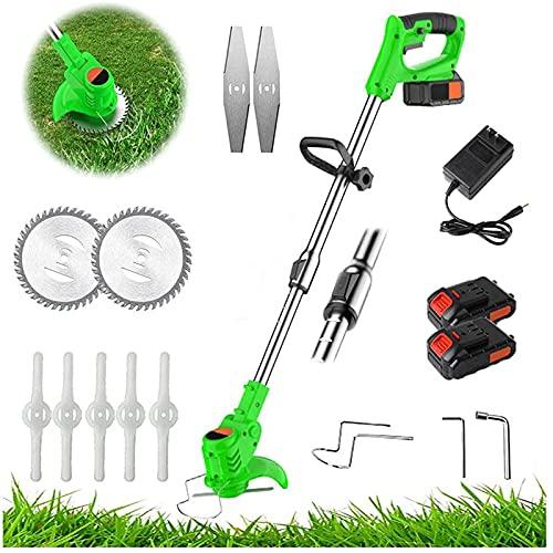 Multifunktionaler elektrischer Rasenmäher, tragbarer Lithium-Akku-Rasenmäher für den Haushalt, wiederaufladbares Unkraut-Artefakt für Rasen- und Gartenpflegewerkze(Size:48TV,Color:1 battery 1 charger)